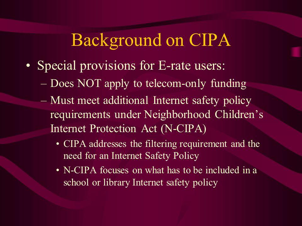 CIPA and PA 212 Compliance.