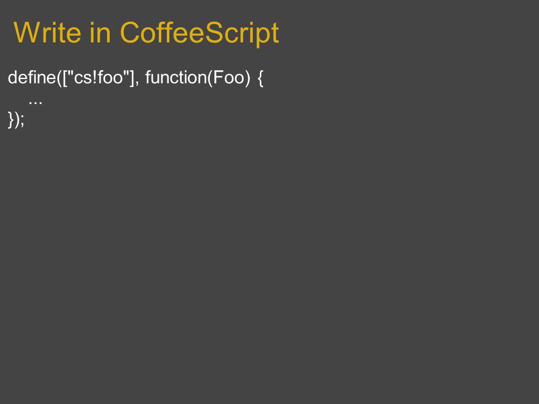 Write in CoffeeScript define([