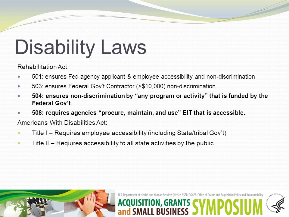 Section 508 Covers Electronic and Information Technology (EIT) Requires comparable access A civil rights law achieved via acquisitions
