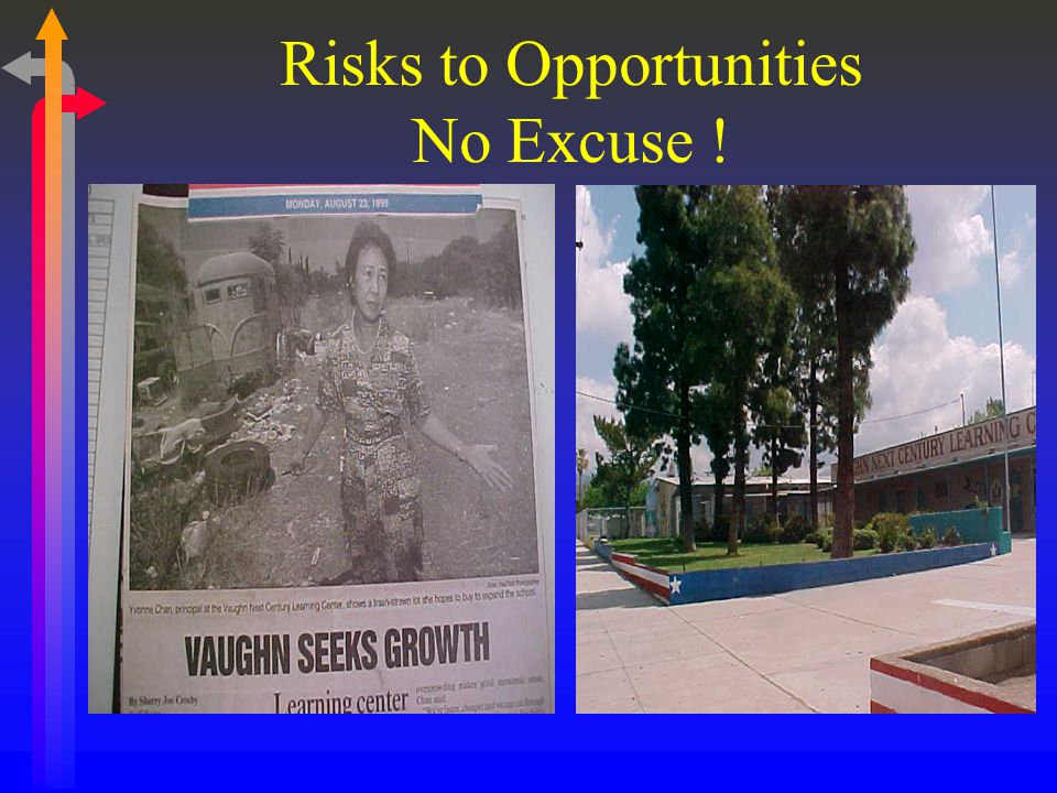 Risks to Opportunities No Excuse !