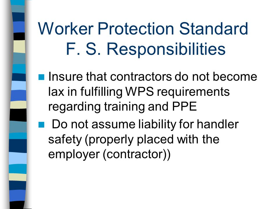 Worker Protection Standard F.S.