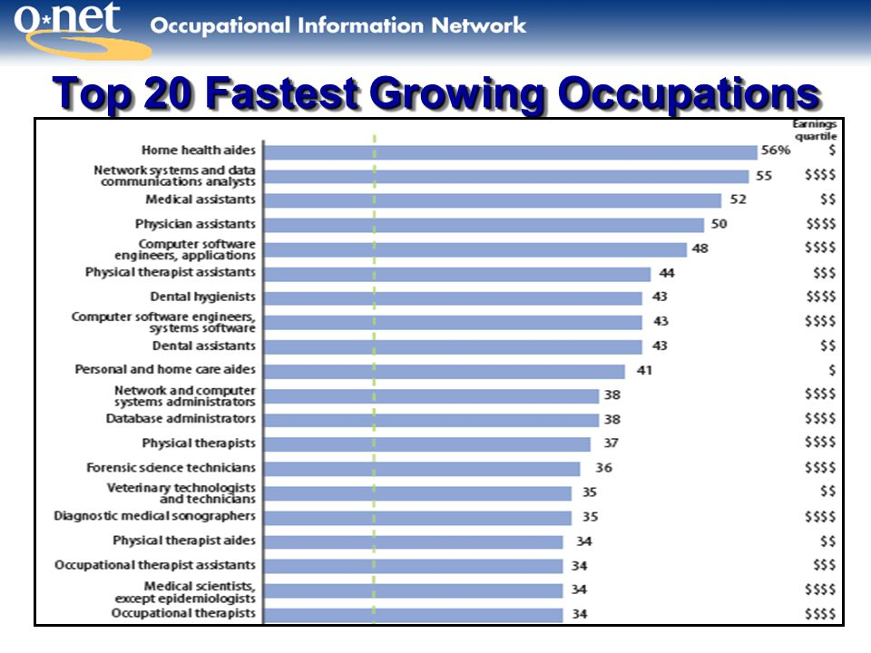 Top 20 Fastest Growing Occupations