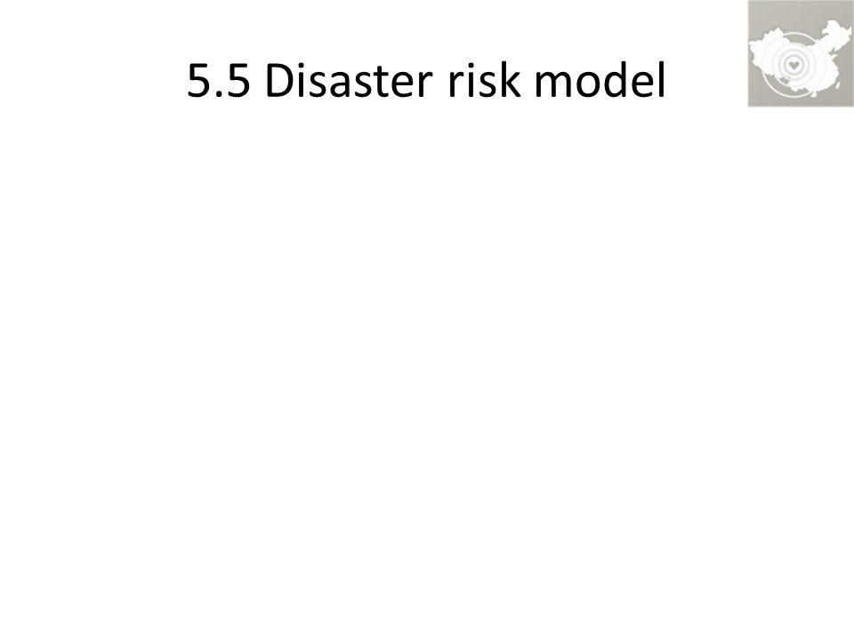 5.5 Disaster risk model