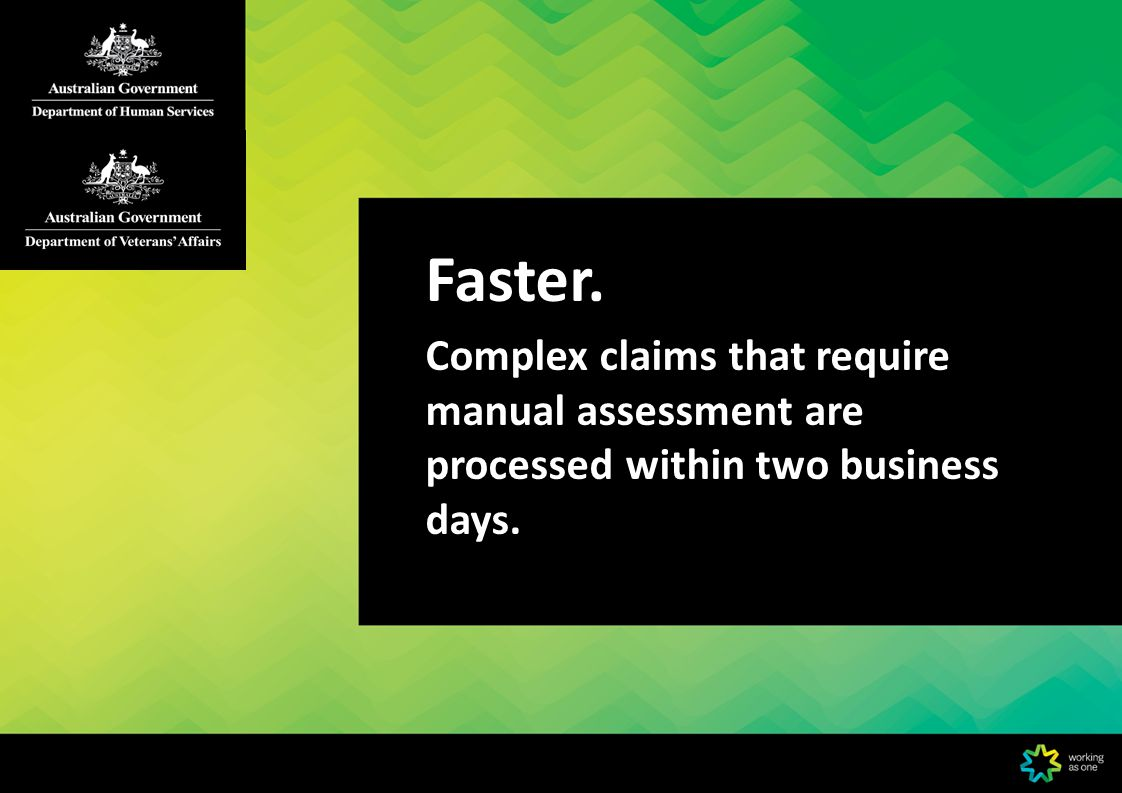 DVA Webclaim Features Save draft claims Cancel paid claims submitted on the same day Download two years claims history