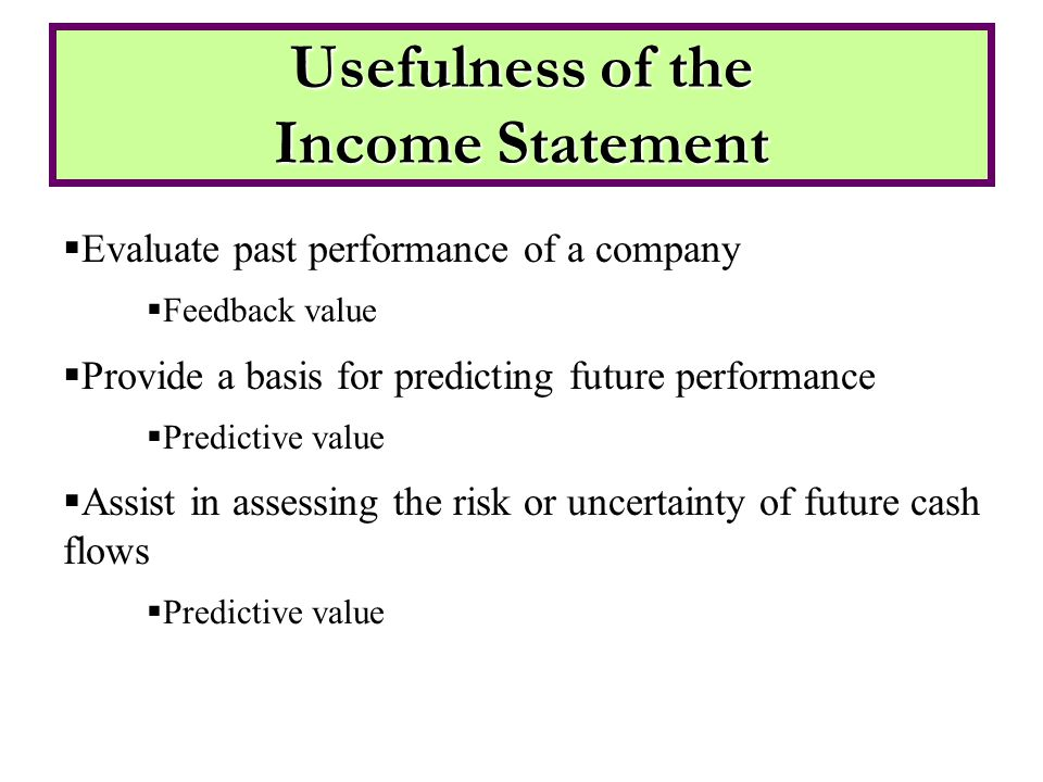 Presentation of Comprehensive income Must be displayed as: –A separate statement of comprehensive income –OR- –Combined income statement and comprehensive income statement –OR- –Part of statement of stockholders' equity (most companies put it here) –May present net of tax or before tax with a single line reporting taxes on comprehensive income Do E4-14, E4-15 Presentation of Comprehensive Income