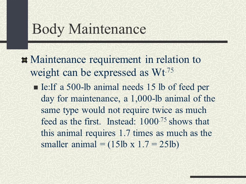 Nutrient Requirements for Growth Growth is the increase in protein over its loss in the animal body.