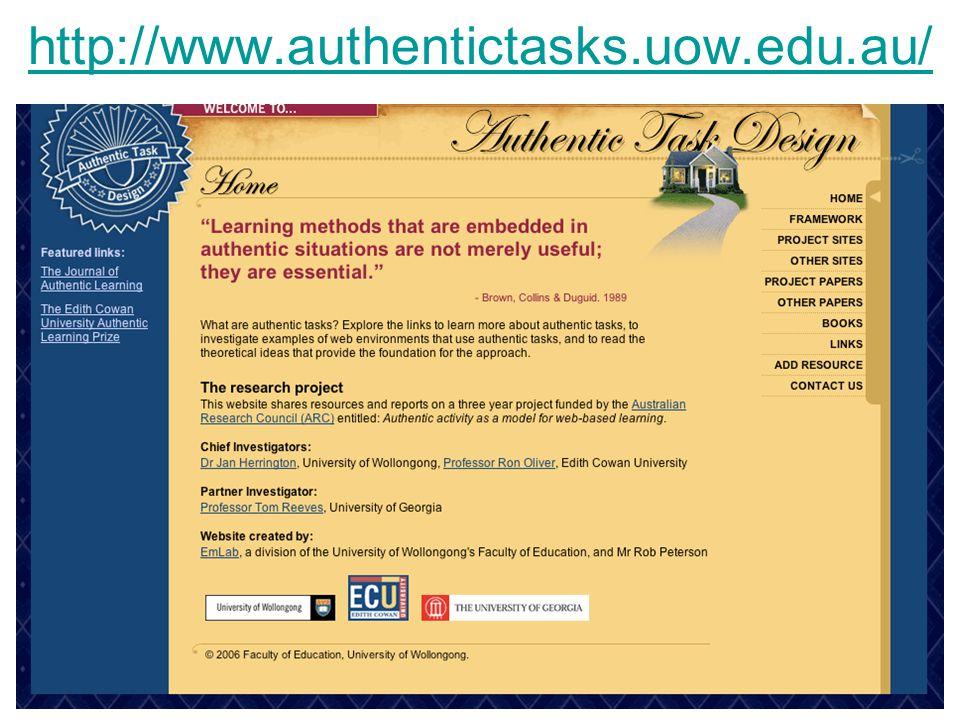 11 http://www.authentictasks.uow.edu.au/