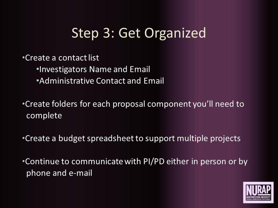 Example of Organizing Tool