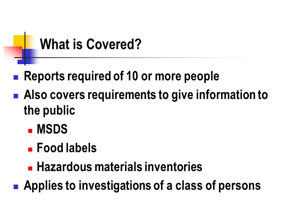 What is Covered.