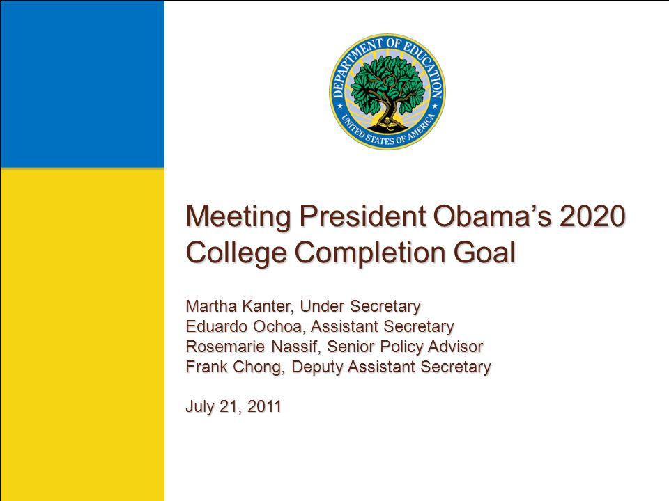 Martha Kanter Martha Kanter Under Secretary of Education