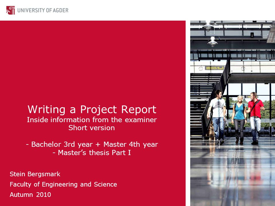 TemplateTemplate for project reports.The template is targeted for Design type of projects.