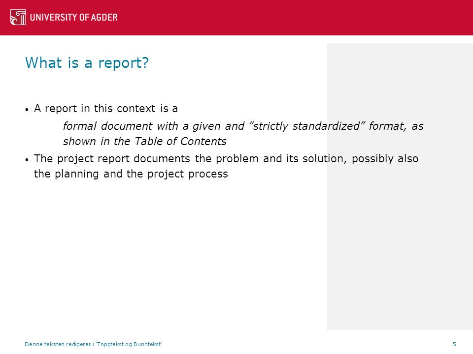 Step 2: Report Design What is a report.