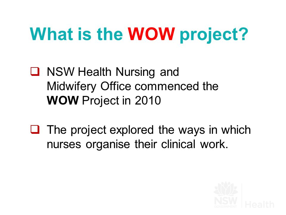 What is the WOW project.