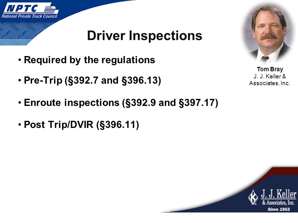 DVIR Driver Responsibilities Drivers are responsible for filling out a DVIR at the end of each day for each vehicle he/she has operated.