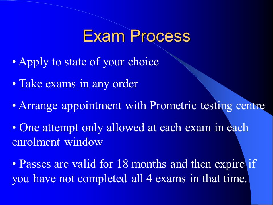 Exam Information www.uscpasuccess.com www.cpa-exam.org www.prometric.com