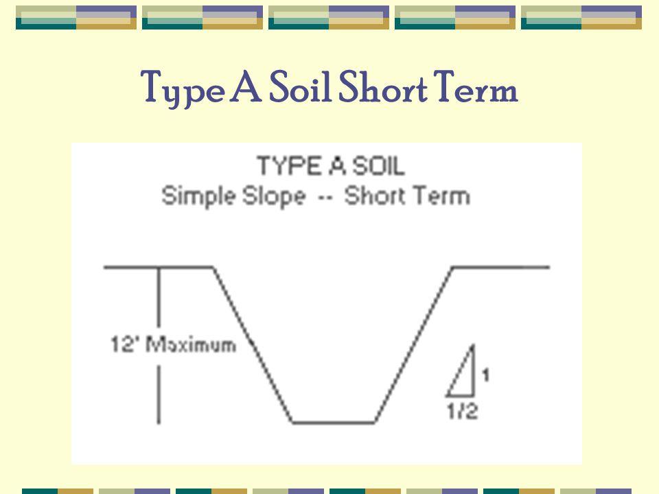 Type A Soil Short Term