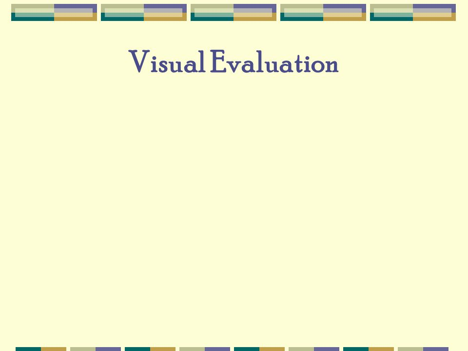Visual Evaluation