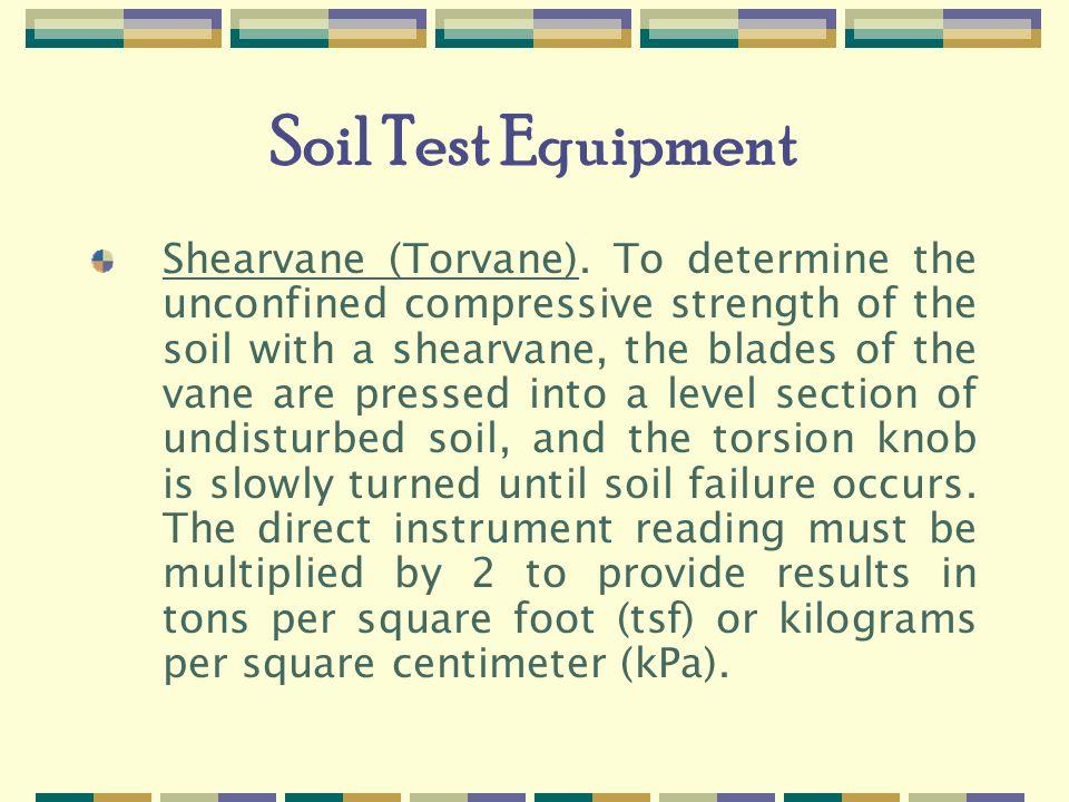 Soil Test Equipment Shearvane (Torvane).