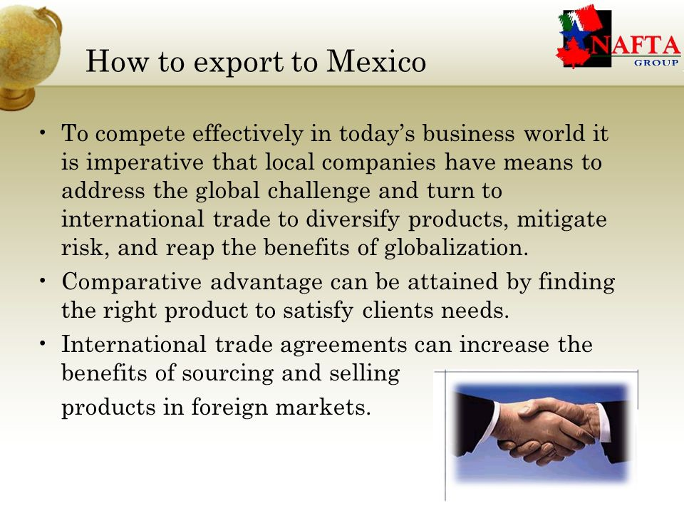 Import regulations and duties Since Mexico joined the GATT in 1986, few goods have been subject to import license.
