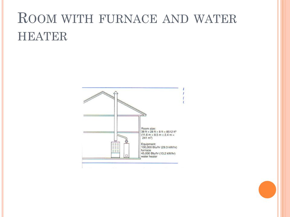R OOM WITH FURNACE AND WATER HEATER