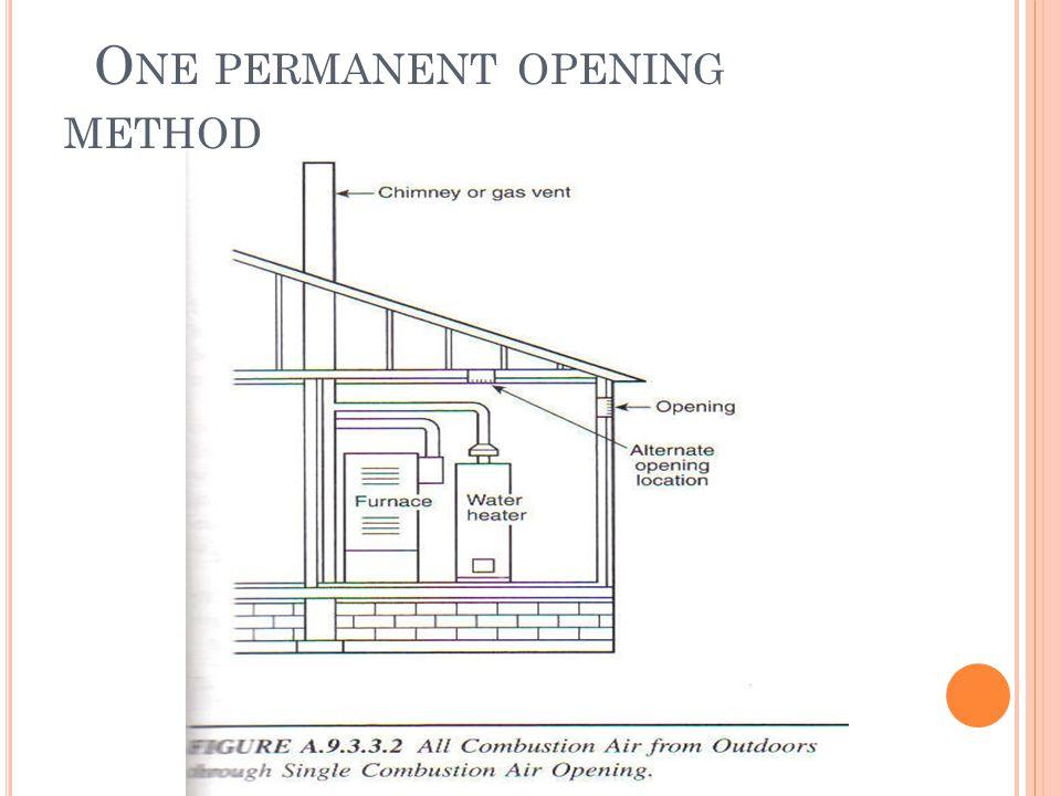 O NE PERMANENT OPENING METHOD