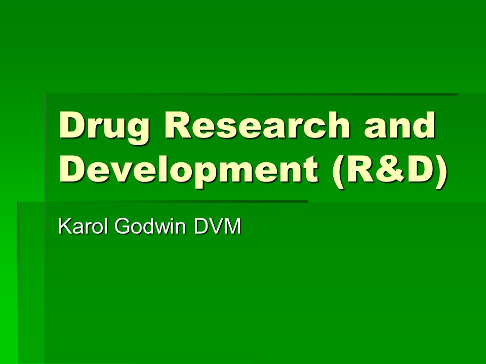 Pharmacodynamics  Studies performed both in vitro and in animals models to determine if a potential drug may work  Typically use disease models (tumor xenograft), transgenic models (ob/ob mice), or biomarker studies in normal animals (red blood cell counts, glucose, etc.)  Vast majority of this work is in rodents, but can run from zebra fish to baboons  Most animal use in drug development is in this area