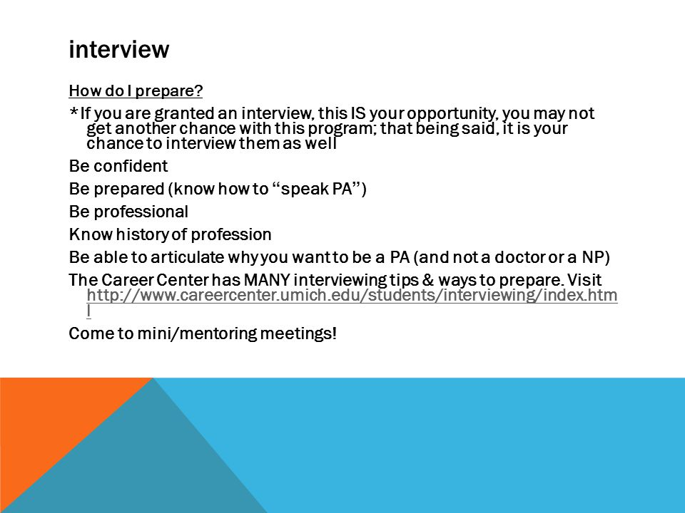 interview How do I prepare.