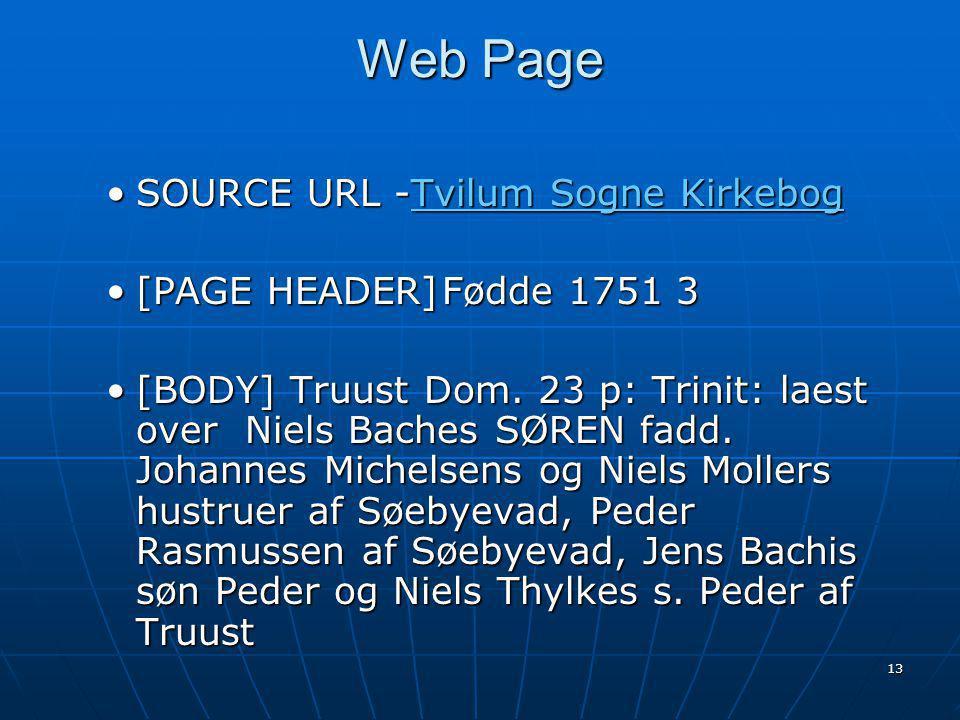 13 Web Page SOURCE URL -Tvilum Sogne KirkebogSOURCE URL -Tvilum Sogne Kirkebog [PAGE HEADER]Fødde 1751 3[PAGE HEADER]Fødde 1751 3 [BODY] Truust Dom.