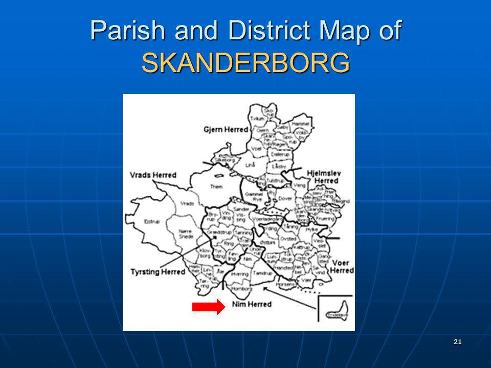 21 Parish and District Map of SKANDERBORG