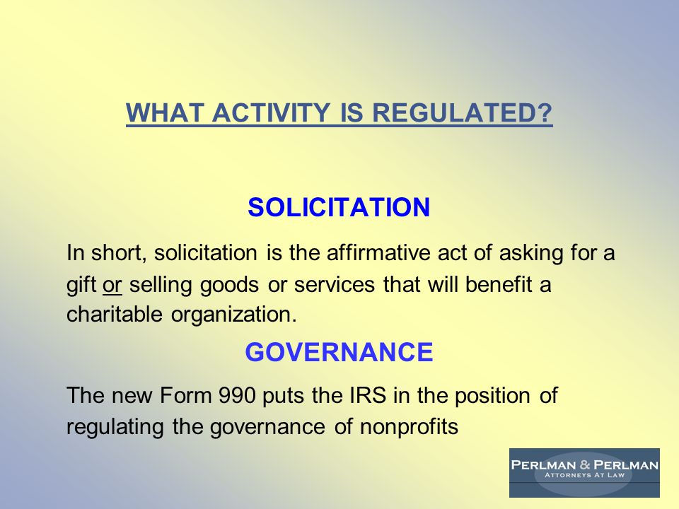 WHAT ACTIVITY IS REGULATED.