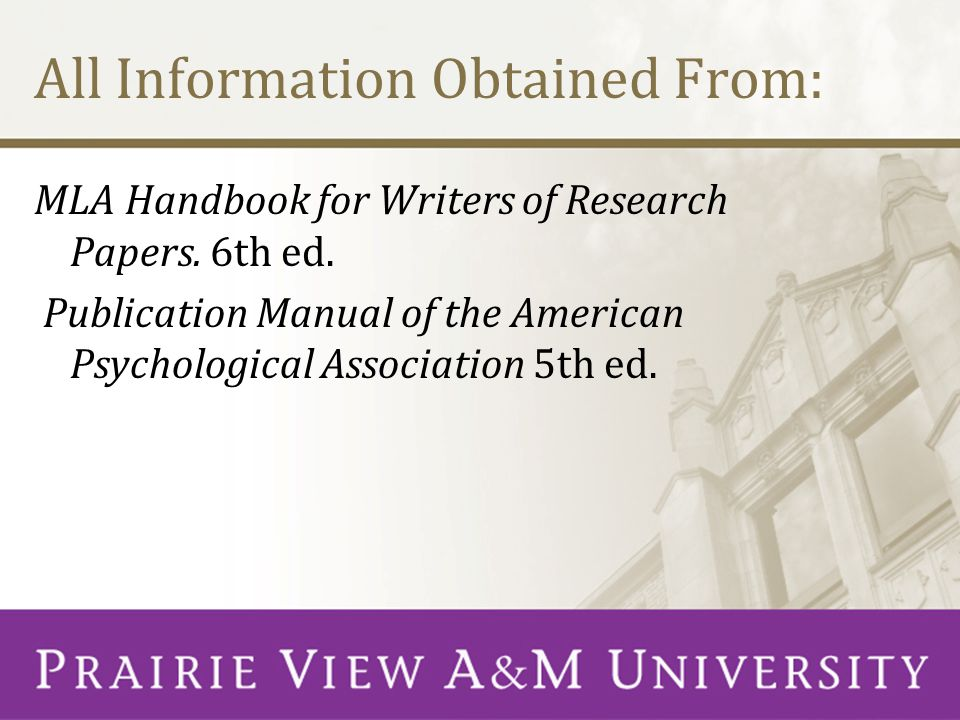 apa handbook for writers of research papers Journals of the american psychological association in the research and writing process  apa guide to preparing manuscripts for journal publication.