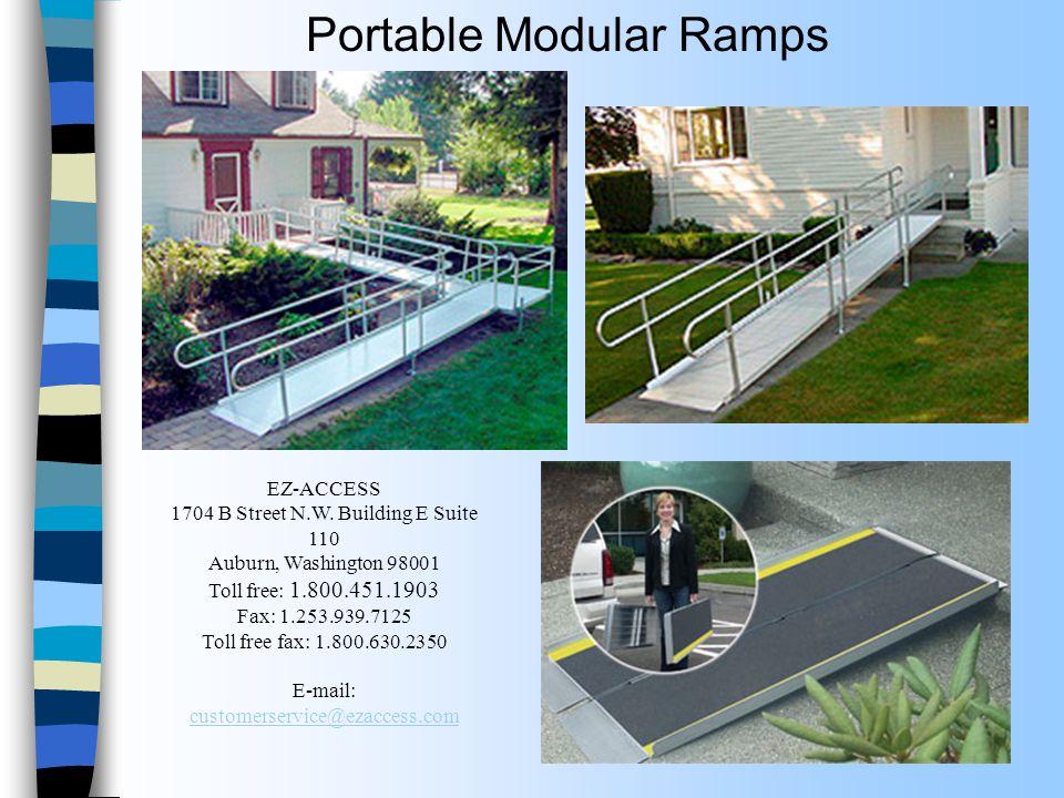 Portable Modular Ramps EZ-ACCESS 1704 B Street N.W.