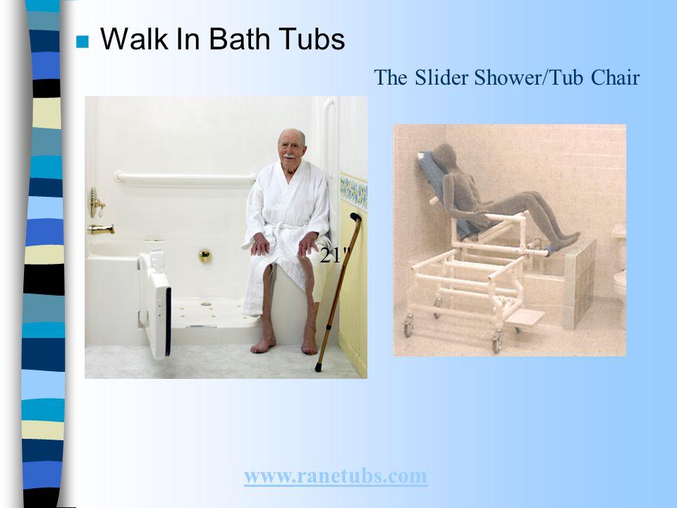 The Slider Shower/Tub Chair n Walk In Bath Tubs www.ranetubs.com 21