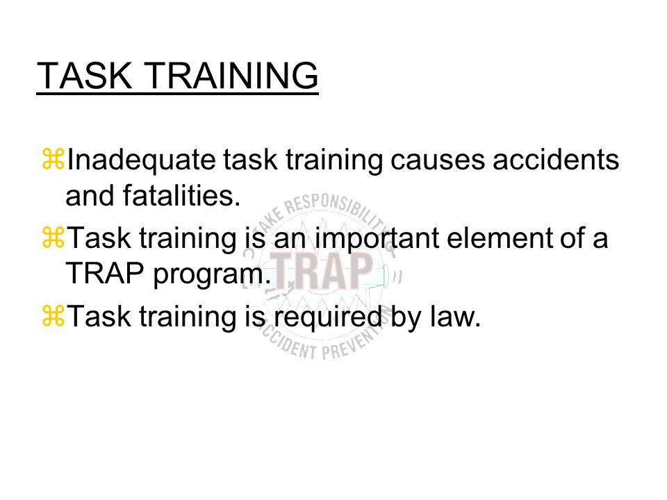 What Traps Should Task Training Cover? zEnvironmental Traps zEquipment Traps zProcedural Traps