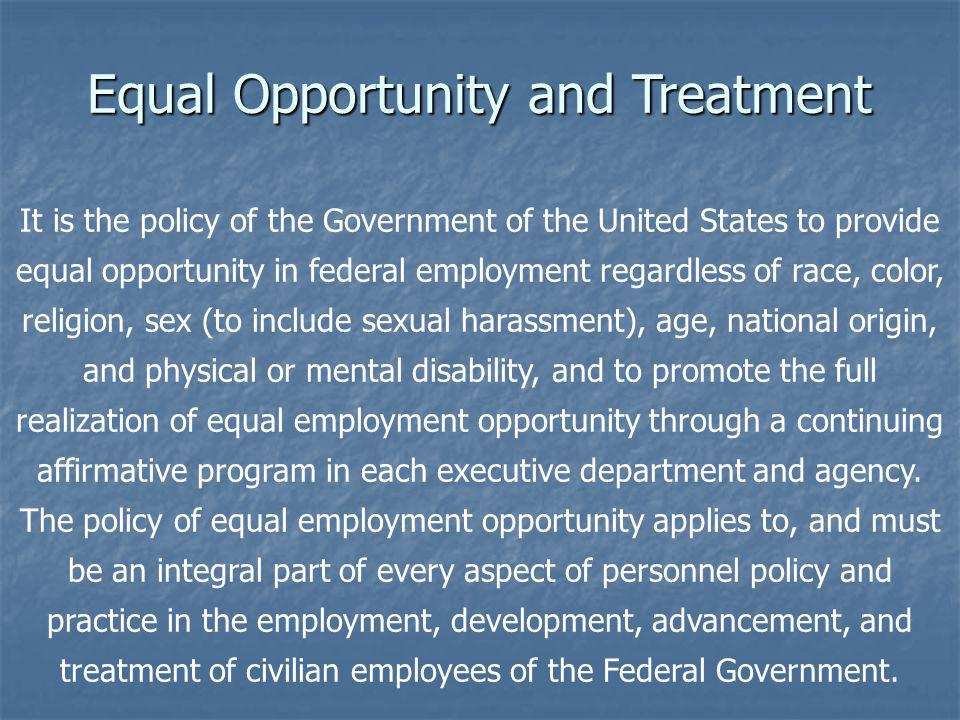 What does it mean to me? Responsibility and Accountability  It means Accountability to the law has been strengthened;  It means the Air Force is enhancing its role in being responsible for eradicating discrimination and retaliation in the workplace;  It means you can expect swift and appropriate action where violations are substantiated  It means you can expect a work environment where you can perform to your highest potential and contribute to effective government operations.