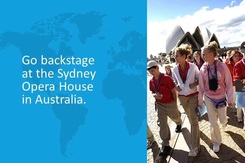Go backstage at the Sydney Opera House in Australia.