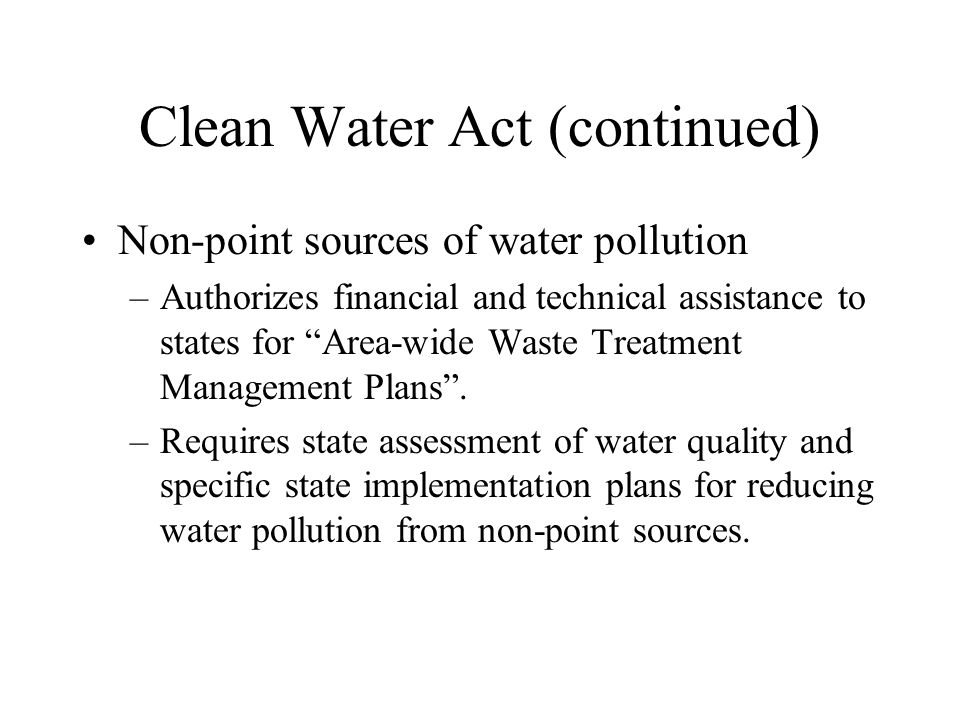 Comprehensive Environmental Response, Compensation and Liability Act (CERCLA)--1980 Purpose: to protect public health and environment from abandoned and uncontrolled hazardous wastes.