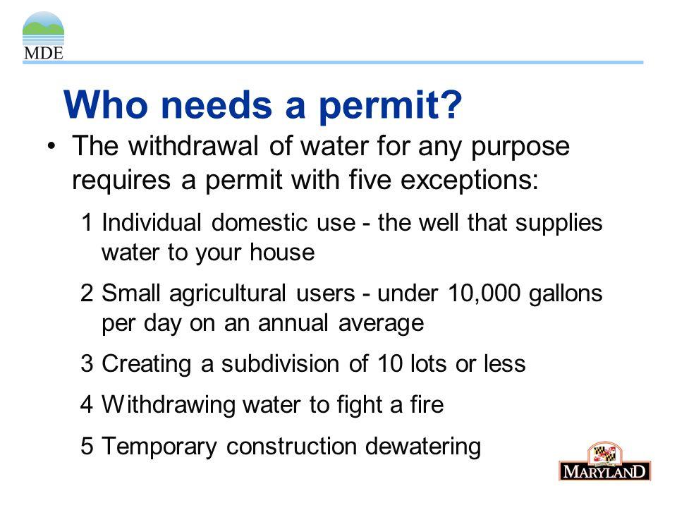 Who needs a permit.