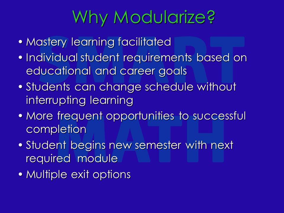 Why Modularize. Why Modularize.