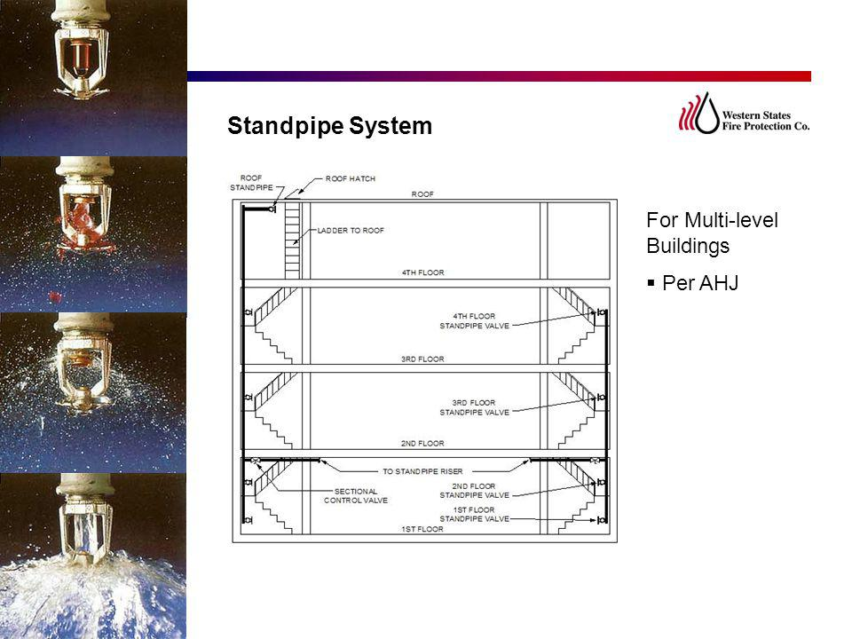 Standpipe System For Multi-level Buildings  Per AHJ