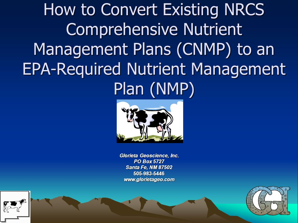 BACKGROUND NRCS CNMP vs EPA NMP Everyone, including us said it was going to be easy…………………… Lets see how easy it is……