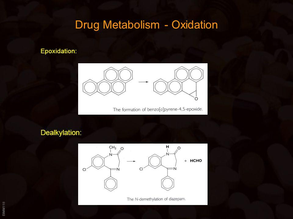 BIMM118 Drug Metabolism - Oxidation Epoxidation: Dealkylation: