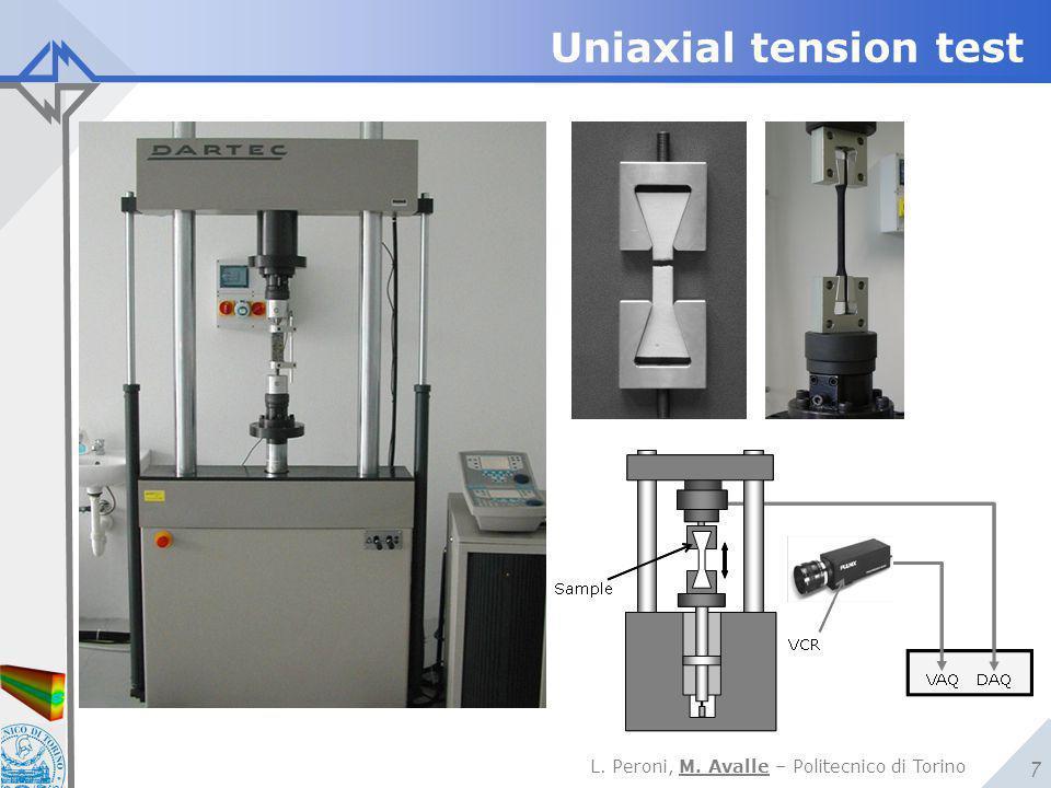 L. Peroni, M. Avalle – Politecnico di Torino 7 Uniaxial tension test