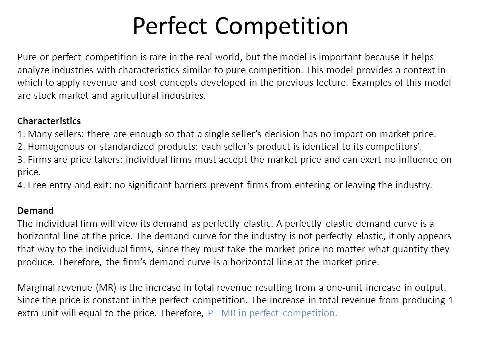 Profit - Maximizing Output The MR = MC rule will give the firms the profit – maximizing output.