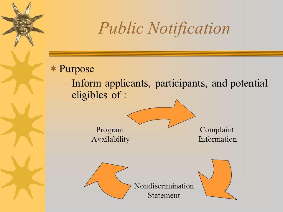 Public Notification