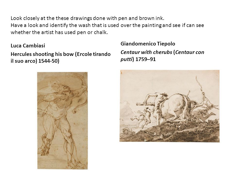 Look closely at the these drawings done with pen and brown ink.