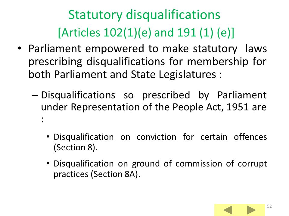 51 Non-citizenship of India or acknowledgement of allegiance or adherence to a foreign State [Articles 102(1) (d) and 191 (1) (d)]:  Citizenship of I