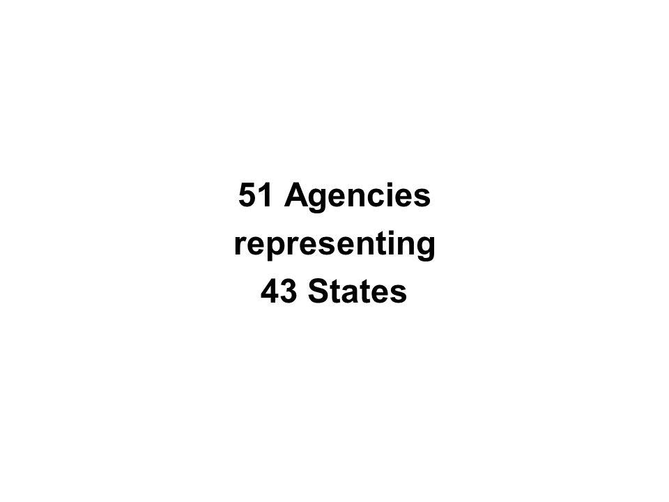 51 Agencies representing 43 States