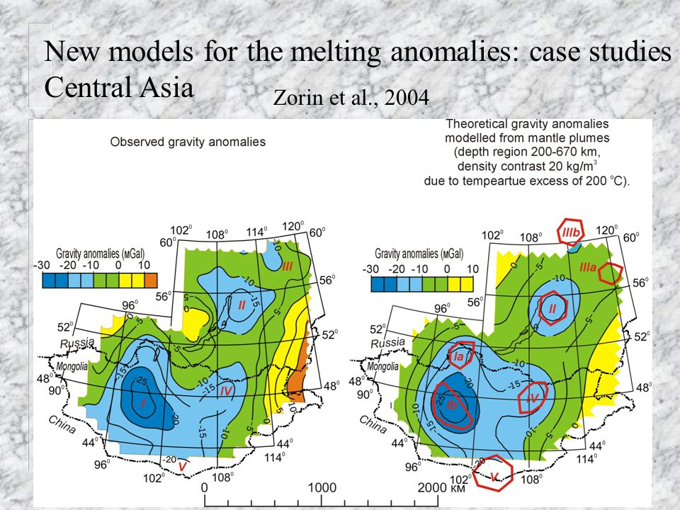 New models for the melting anomalies: case studies Central Asia Zorin et al., 2004
