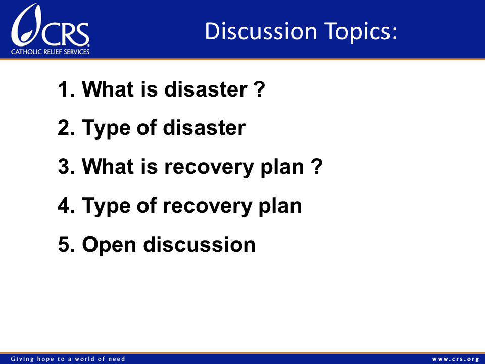 What is disaster ?